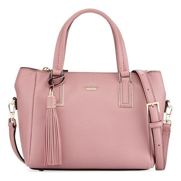 KATE SPADE NEW YORK alena small pebbled satchel bag - kate spade new york pebbled leather satchel bag. Flat...