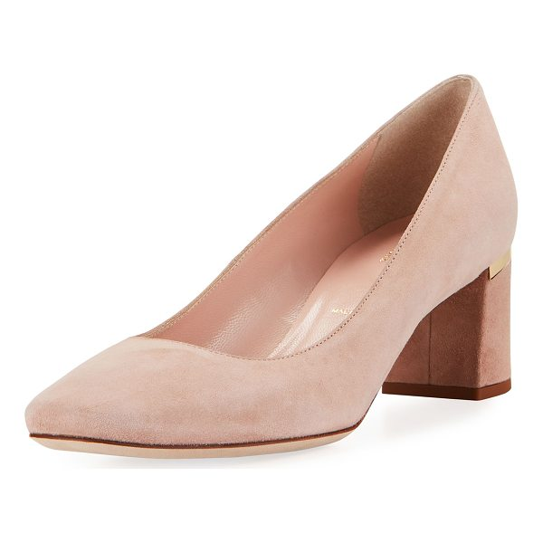 "KATE SPADE NEW YORK dolores too suede pump - kate spade new york pump in kid suede. 2"" block heel with..."