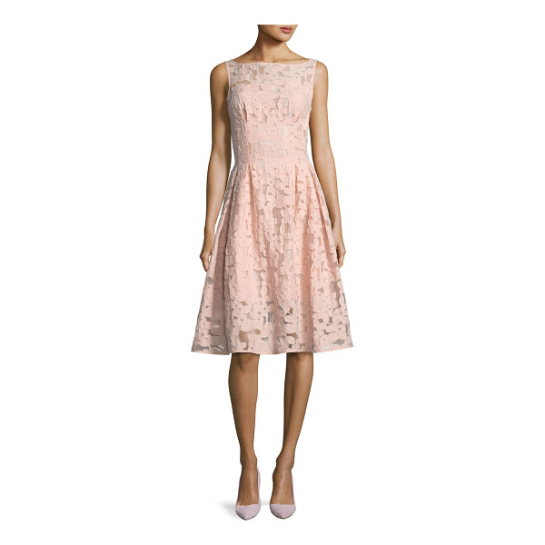 """KATE SPADE NEW YORK floral fil coupe sleeveless bateau-neck cocktail dress - kate spade new york dress in floral fil coupe. Approx. 42""""L..."""