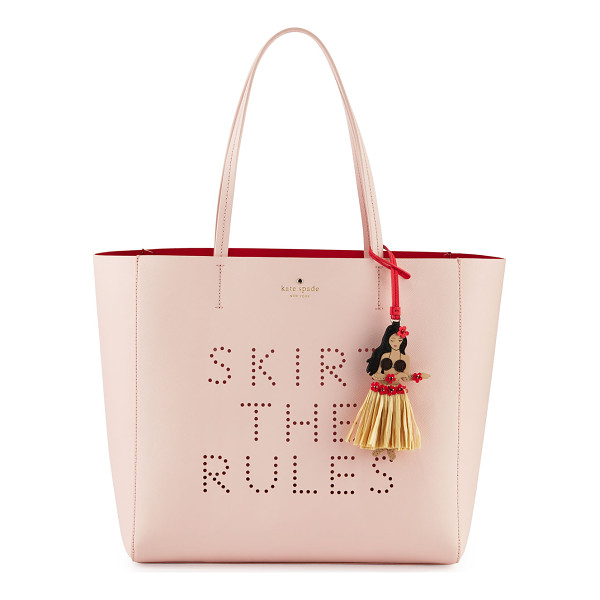 "KATE SPADE NEW YORK Skirt the rules hallie tote bag - kate spade new york ""skirt the rules hallie"" leather tote..."