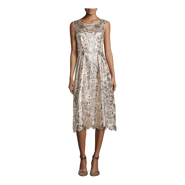 KAY UNGER Lace - Kay Unger New York brings texture, sparkle and shine to...