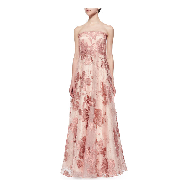 KAY UNGER Strapless lace ball gown - Kay Unger New York lace organza ball gown. Approx....