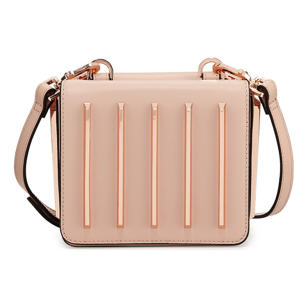 KENDALL + KYLIE Baxter Tracks Leather Crossbody Bag - Kendall + Kylie metallic leather crossbody bag with metal...