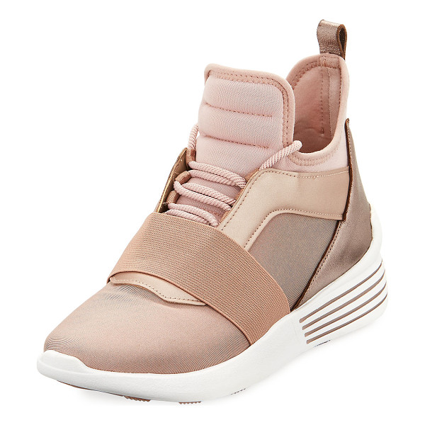 KENDALL + KYLIE Braydin High-Top Trainer Sneaker - Kendall + Kylie high-top sneaker in neoprene fabric with...