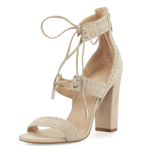 KENDALL + KYLIE Dawn Studded Strappy Sandal - Kendall + Kylie suede sandal with studded trim. Covered