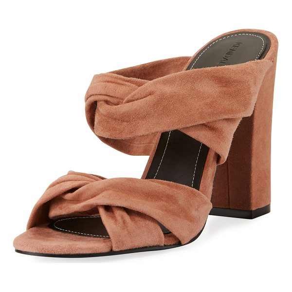 KENDALL + KYLIE Demy Knot Slide Mule Sandal - Kendall + Kylie suede sandal with knotted straps. Covered...