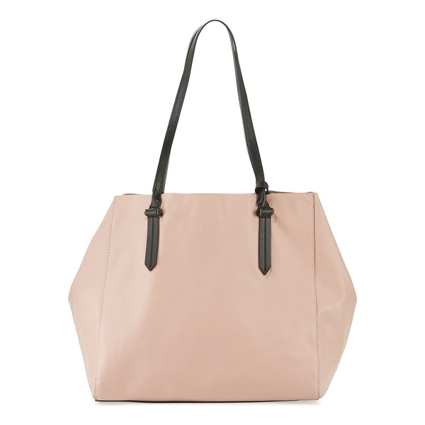 KENDALL + KYLIE Izzy Unlined Tote Bag - Kendall + Kylie colorblock calf leather tote bag. Thin top...