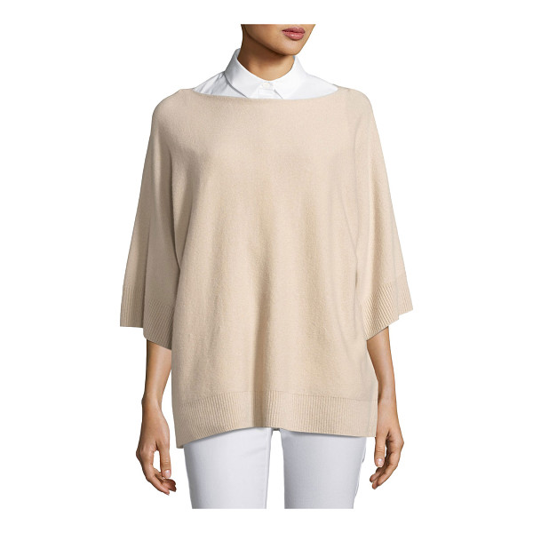 LAFAYETTE 148 NEW YORK Cashmere Dolman-Sleeve Oversized Sweater - Lafayette 148 New York oversized cashmere sweater. Ribbed...