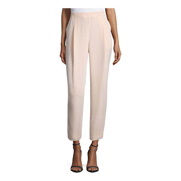 LAFAYETTE 148 NEW YORK Pleated-front cropped pants - Lafayette 148 New York woven pants. Side slip pockets. Rise...