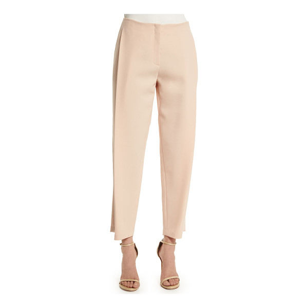 LAFAYETTE 148 NEW YORK Side-pleated ankle pants - Lafayette 148 New York woven pants. Side slip pockets;...