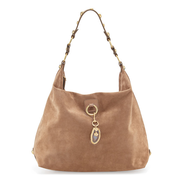 LANVIN Large nubuck hobo bag - Lanvin nubuck leather hobo bag. Polished golden hardware....