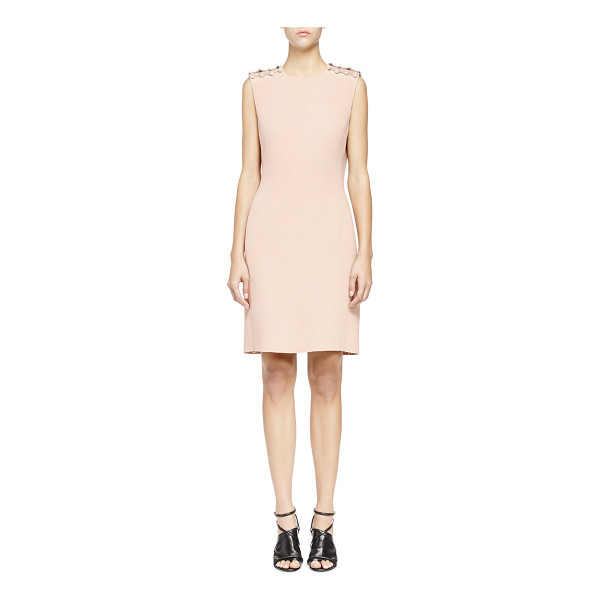 LANVIN Pearly pierced washed cady sheath dress - Lanvin dress. Washed cady. Synthetic pearl piercings atop...