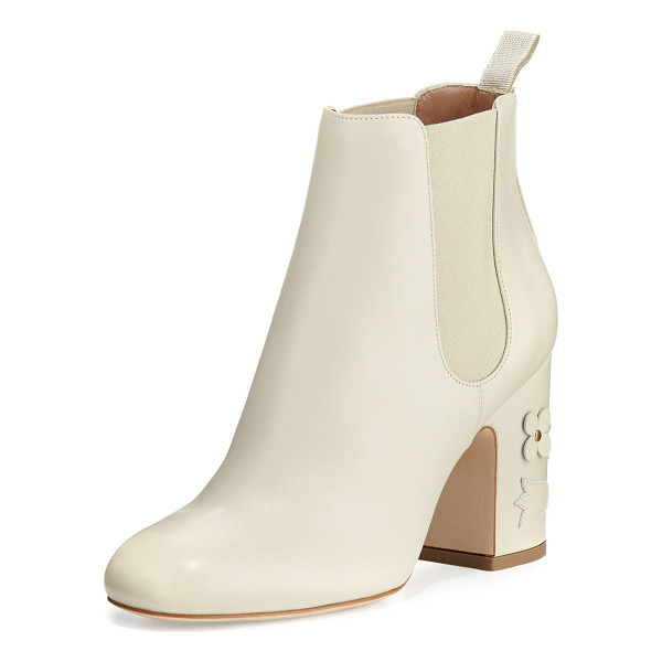 LAURENCE DACADE Mia Floral-Appliqué Leather 85mm Chelsea Boot - Laurence Dacade calf leather Chelsea boot with floral