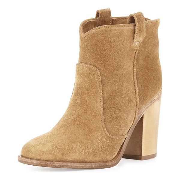 """LAURENCE DACADE Pete suede ankle boot - Laurence Dacade suede ankle boot. 4. 3"""" block heel. Round..."""