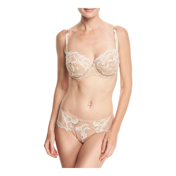 LISE CHARMEL Guipure Charming Lace Demi-Cup Bra - Eprise Guipure Charming bra with sheer embroidered lace....