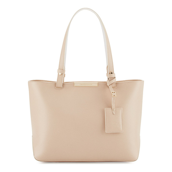 LONGCHAMP Le Foulonné Small City Tote Bag - Longchamp pebbled calf leather tote bag. Flat top handles...