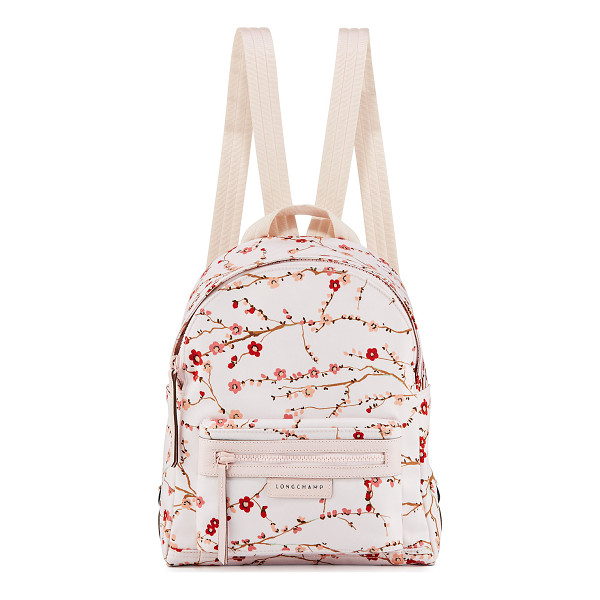 LONGCHAMP Le Pliage Néo Small Sakura Backpack - Longchamp nylon backpack in cherry blossom print. Tonal...