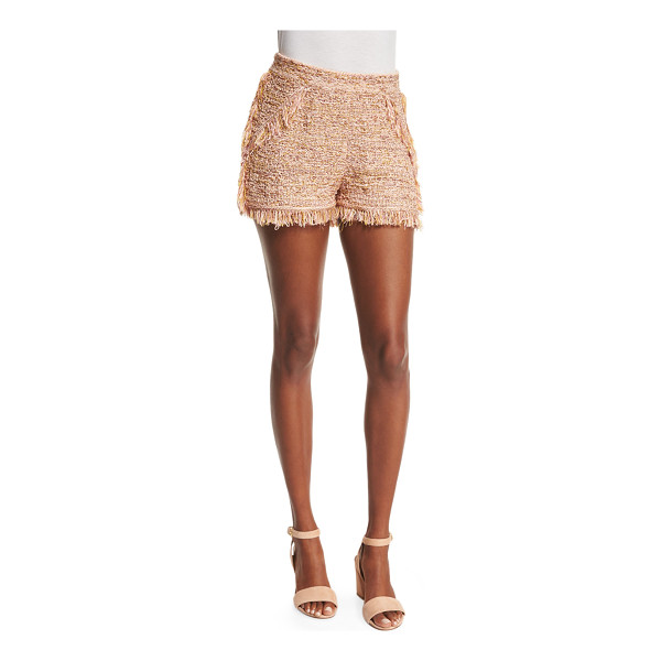 M MISSONI Metallic Crochet Shorts W/Fringe Trim - M Missoni crochet shorts with fringe. Approx. measurements:...