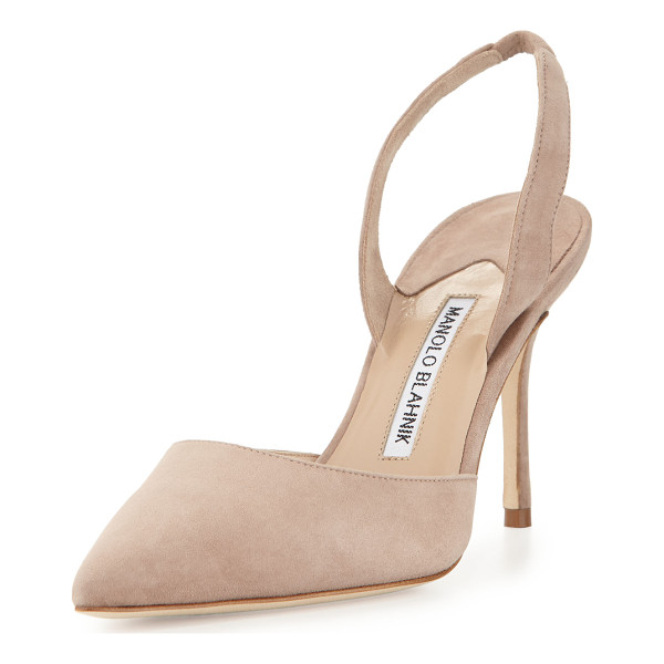 MANOLO BLAHNIK Carolyne 90mm Suede Halter Pump - ONLYATNM Only Here. Only Ours. Exclusively for You. Manolo...