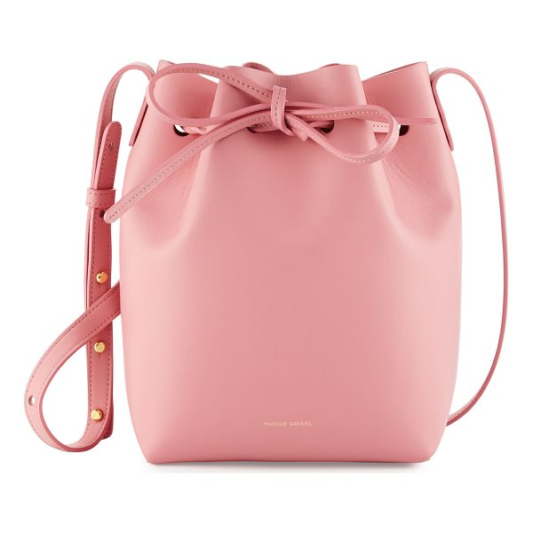 MANSUR GAVRIEL Calf Leather Mini Bucket Bag - Mansur Gavriel calf leather bucket bag. Available in...