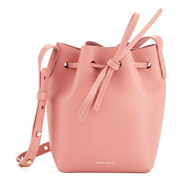 MANSUR GAVRIEL Calf Leather Mini Mini Bucket Bag - Mansur Gavriel Italian calf leather bucket bag. Available