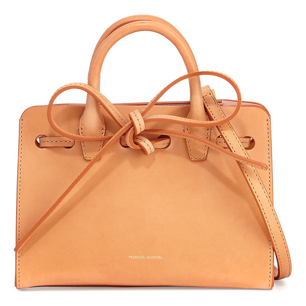 "MANSUR GAVRIEL Mini Mini Sun Tote Bag - Mansur Gavriel mini mini ""Sun"" tote bag in vegetable-tanned"