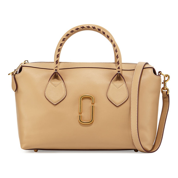 MARC JACOBS Noho Medium East-West Tote Bag - Marc Jacobs smooth calfskin tote bag. Rolled top handles...