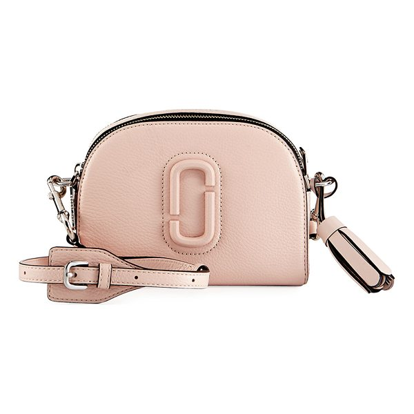 MARC JACOBS Shutter Small Leather Camera Bag - Marc Jacobs pebbled calf leather camera bag. Golden...