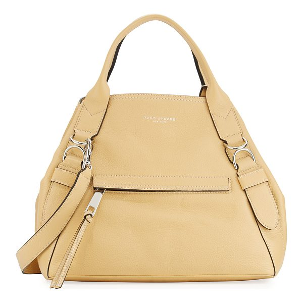 "MARC JACOBS The Anchor Leather A-Shape Tote Bag - Marc Jacobs ""The Anchor"" leather tote bag with silvertone..."