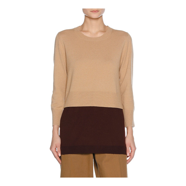 MARNI Layered Virgin Wool-Cashmere Sweater - Marni sweater with trompe l'oeil layered hem. Finely ribbed...