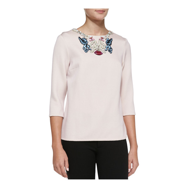 MARY KATRANTZOU Embroidered-neck blouse - Blouse by Mary Katrantzou. Round neckline with embroidery...