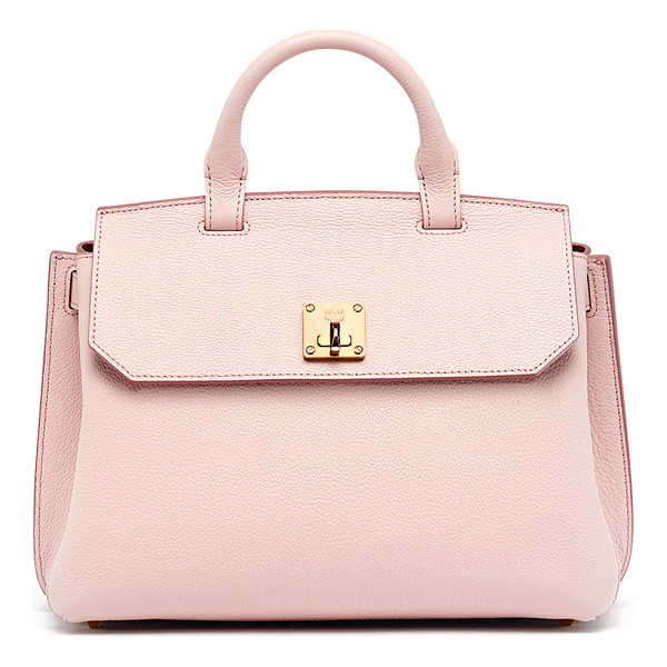 MCM Milla Medium Convertible Satchel - MCM pebbled leather bag can be worn as a backpack, shoulder...