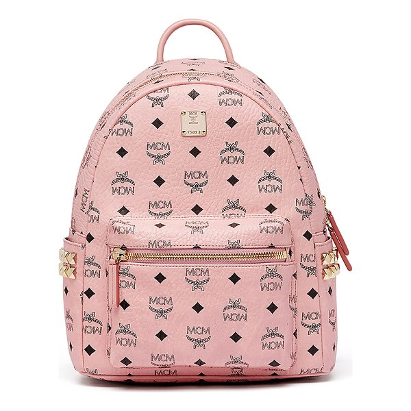 MCM Stark Small Side Studded Backpack - MCM backpack in signature Visetos logo-print coated canvas....