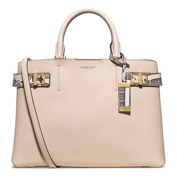 MICHAEL KORS Bette large satchel bag - Michael Kors French calfskin satchel bag with snakeskin...