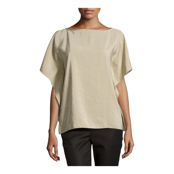 "MICHAEL KORS Butterfly-sleeve tunic - Michael Kors pebbled-silk tunic. Approx. measurements: 23""L..."