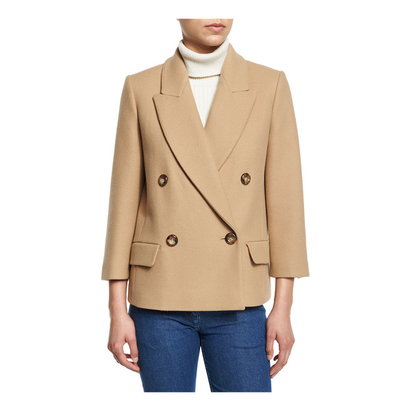 MICHAEL KORS COLLECTION Single-Breasted Long Sleeve Blazer - Michael Kors Collection virgin wool blazer. Notched collar;...