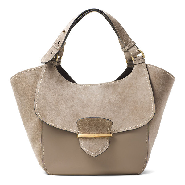 MICHAEL KORS COLLECTION Josie Large Suede & Leather Shopper Tote Bag - Michael Kors Collection leather and suede shoulder bag.