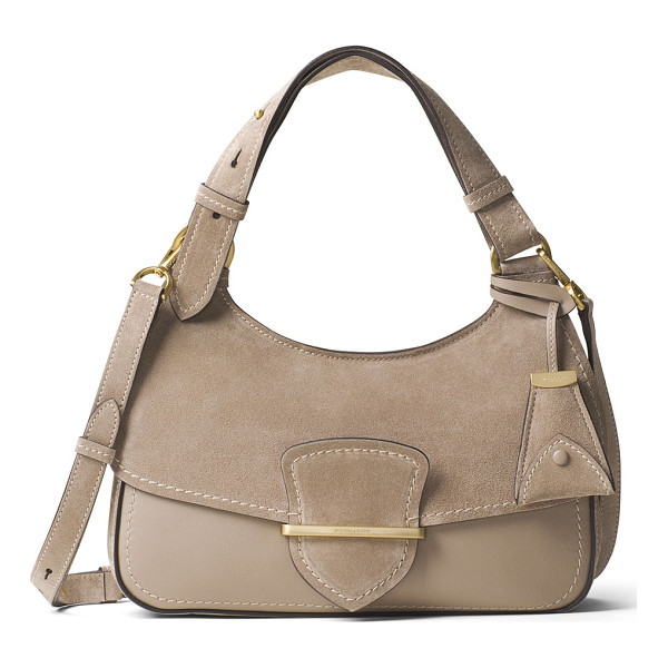 MICHAEL KORS COLLECTION Josie Medium Suede & Leather Shoulder Bag - Michael Kors Collection leather and suede shoulder bag.
