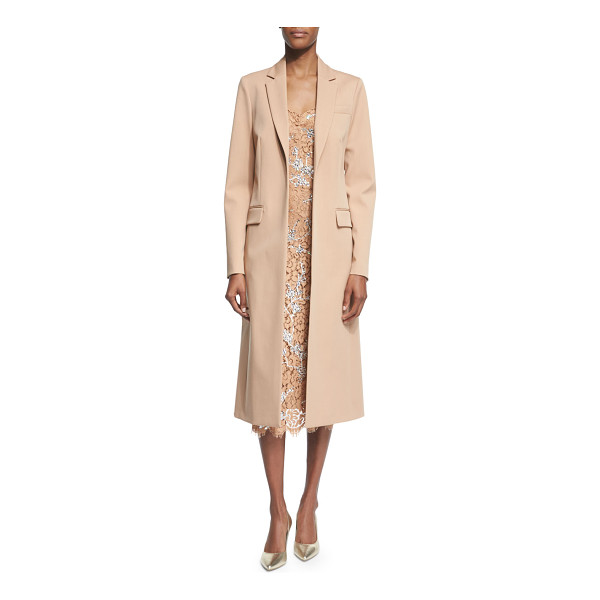 "MICHAEL KORS COLLECTION Long open-front wool coat - Michael Kors long coat. Approx. 45""L down center back...."
