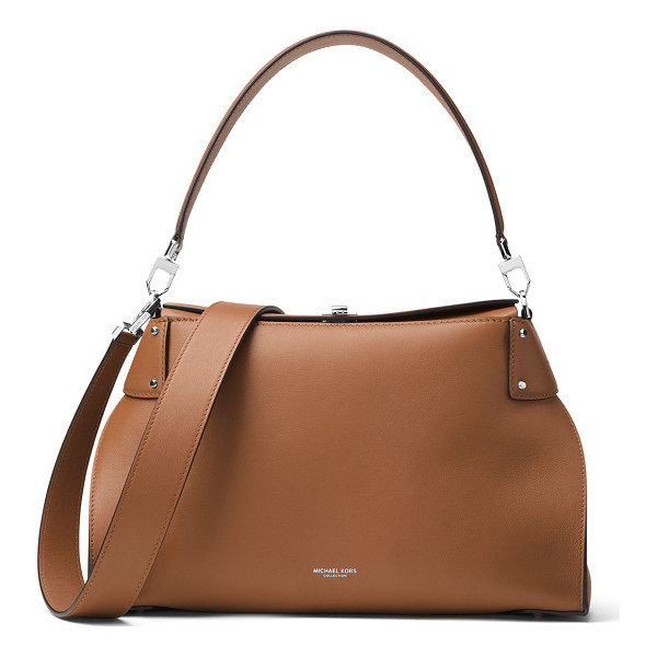 MICHAEL KORS COLLECTION Miranda Large Top-Lock Shoulder Bag - Michael Kors Collection smooth calfskin shoulder bag.