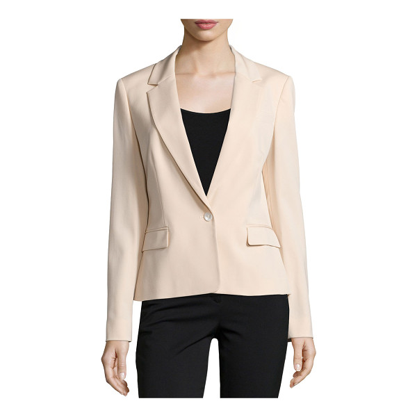 MICHAEL KORS COLLECTION One-button long-sleeve jacket - Michael Kors stretch-wool jacket. Notched lapels;...