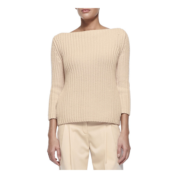 MICHAEL KORS COLLECTION Shaker-knit cashmere boat-neck sweater - Michael Kors sweater in shaker-knit cashmere. Approx....