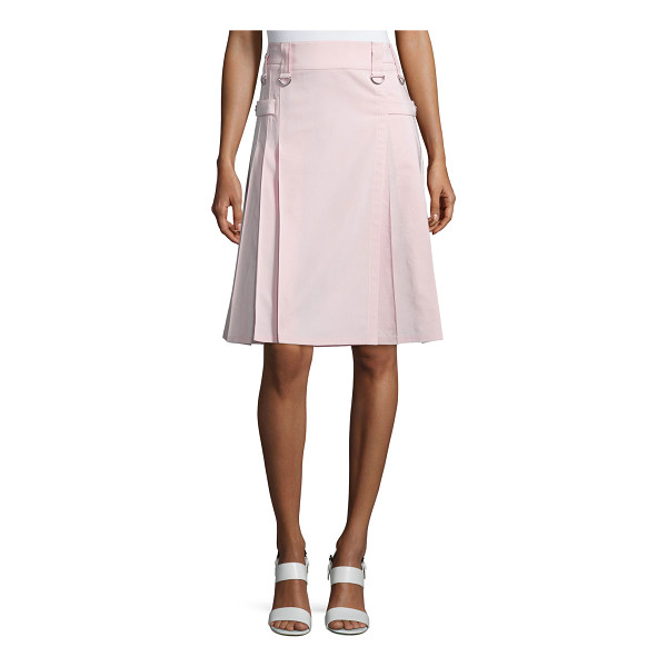 "MICHAEL KORS COLLECTION Utility Pleated Kilt-Style Skirt - Michael Kors faille skirt. Approx. 24.5""L. Sits at the..."