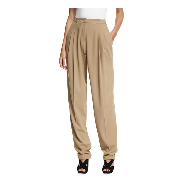 MICHAEL KORS COLLECTION Virgin Wool Pleated Carrot Trousers - Michael Kors Collection carrot trousers in stretch virgin...