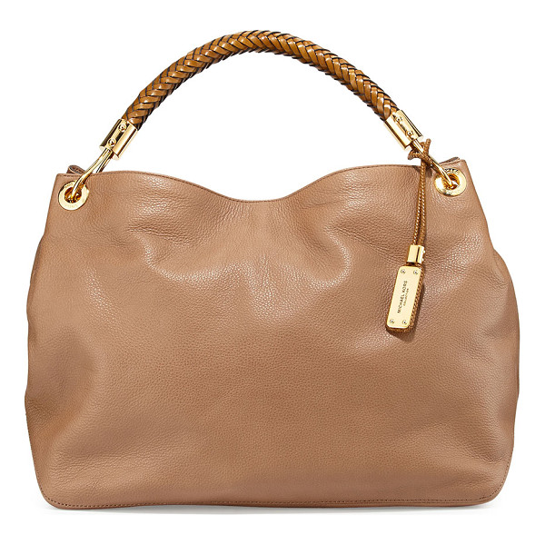 MICHAEL KORS Large skorpios grained shoulder bag - Michael Kors grained leather shoulder bag. Golden hardware....