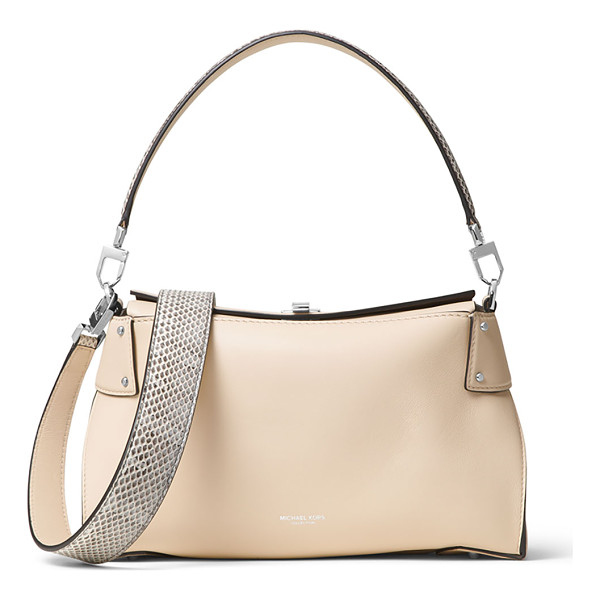 MICHAEL KORS Miranda Medium Top-Lock Shoulder Bag - Michael Kors smooth leather shoulder bag. Removable