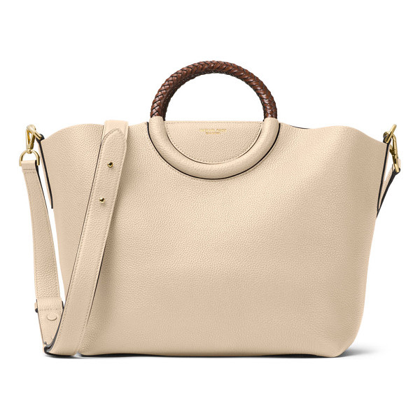 MICHAEL KORS Skorpios Leather Market Bag - Michael Kors pebbled leather tote bag. Golden hardware.