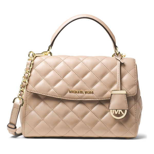 MICHAEL MICHAEL KORS Ava small quilted leather satchel bag - MICHAEL Michael Kors small satchel in quilted leather....