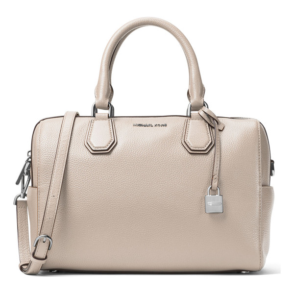 MICHAEL MICHAEL KORS Mercer Medium Leather Duffle Bag - MICHAEL Michael Kors pebbled leather duffle bag. Rolled top