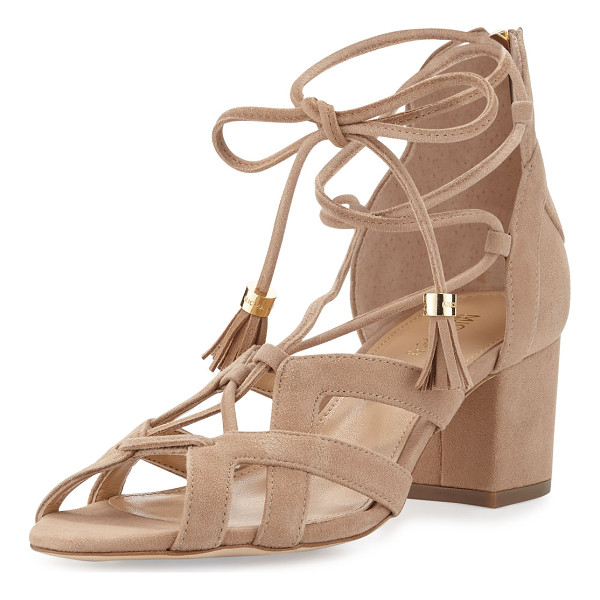 MICHAEL MICHAEL KORS Mirabel suede lace-up sandal - MICHAEL Michael Kors kid suede sandal in modified d'Orsay...